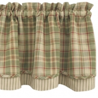 China green plaid shower curtain on sale