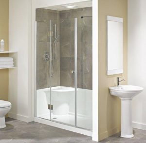 China acrylic shower base with seat on sale