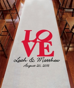 China LOVE Personalized Aisle Runner on sale
