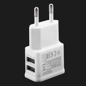China Consumer Electronics BH-085 5V 2A Dual USB Charger Travel Wall Charger Adapter on sale