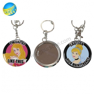 China One Side Mirror Metal Tin Button Badges on sale