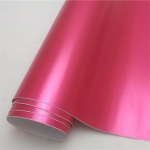 Rose Red Satin Matte Chrome Vinyl Wrap Car Decal