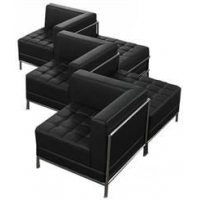 China Black Tufted Modular 5-Seat Zig Zag Sofa Black Tufted Modular 5-Seat Zig Zag Sofa on sale