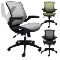 Ergonomic Chairs ElastiMesh All-Mesh Ergonomic Office Chair w/Flip Up Arms