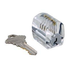 China Clear Lock Picking Practice Lock, Serrated Pins on sale