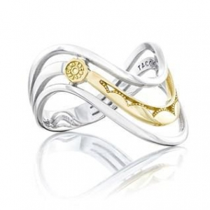 China Jewelry Tacori SR218 Crescent Cove Triple Wave Ring on sale