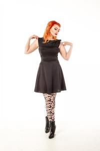 China Dresses Killa Mesh Sleeveless Flared Dress on sale