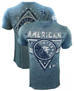 China Mens Shirts American Fighter Siena Heights Washed Denim Shirt on sale