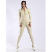 Catsuits & Zentai Halloween Fashion White Zipper Women's Latex Catsuits