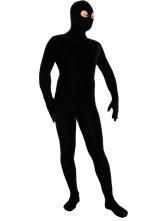 China Catsuits & Zentai Black Spandex Zentai Suit with Eyes Opened Halloween Costume on sale