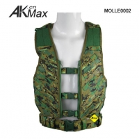 China Brunei Military MOLLE Combat Assault Vest Digital Woodland Cordura CAV on sale