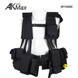 China Black Military Utility Tactical Combat Vest 1050D Cordura on sale
