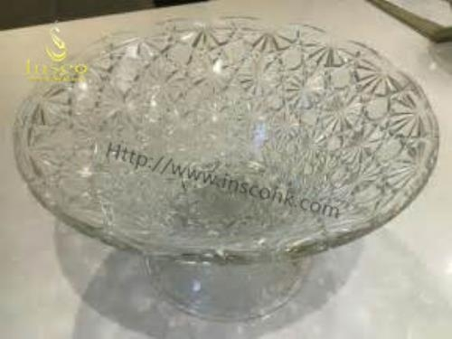 China Crystal Fruit Bowl Pedestal