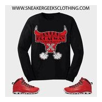 BULLS OVER BROADWAY Long Sleeve T-Shirt to match Jordan 10 Sneakers
