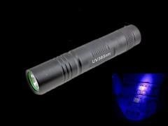 China LED Flashlights (54) 3W LED UV flashlight Ultraviolet lamp 365nm Purple light Money Detector on sale
