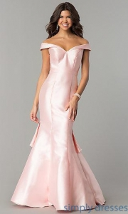 China Mermaid Off-the-Shoulder Prom Dress TE-7126 on sale