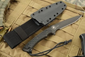 China Ares - Black Blade with Black Micarta on sale
