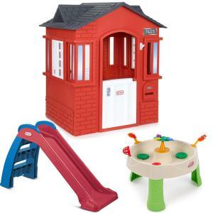 China Playhouses Cape Cottage Red Backyard Bundle on sale