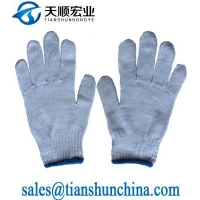 China cheap disposable white cotton work gloves wholesale on sale