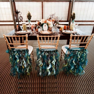 China Ruffled Back Chair Cover on sale