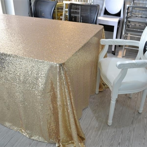 China Wedding Sequin Table Cloth on sale