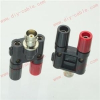 China BNC female jack to two dual Banana jack RF adapter connector on sale