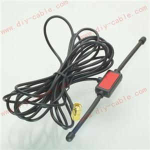 China GSM GPRS Antenna 433 Mhz 2dbi cable SMA male 90  universal CMMB Patch Averial on sale