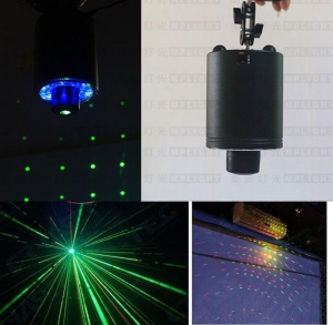 China New 360 degree rotating LED stage with red and green laser for KTV paryt with Remote Control on sale