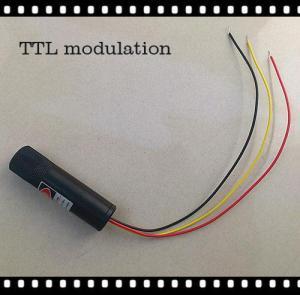 China TTL modulation 650nm 5mw~150mw Red laser Module 16*60mm on sale