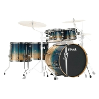 Tama Maple Hyperdrive Custom Drum Kit Shell Pack Figured Ocean Fade ML52HLZBSG-FOF