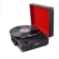 Wholesale Custom USB Bluetooth Smart Suitcase Portable Crosley LP Record Player Vinyl Turntable