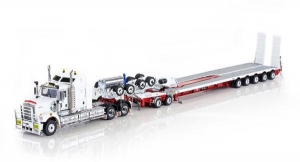 China Trucks Kenworth C509 Tractor w/5x8 Swingwing & 2x8 Dolly - White/Red Item Number:DR509-ZT09061 on sale