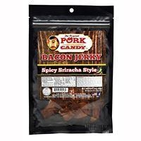 China Snacks / Foods Runnin Wild Foods Pork Candy Bacon Jerky Spicy Sriracha Style 2 oz on sale