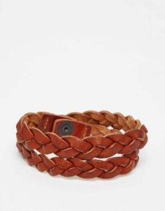China Jack & Jones Leather Braided Bracelet Men M55i9801DX50 on sale