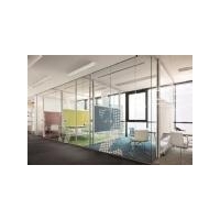 Aluminium Office Partitioning System Glass Walls Partitions For Office Construction Materials
