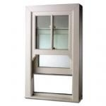 China Aluminum Vertical Sliding Window Design American Style Double Hung Window With Grill Design on sale