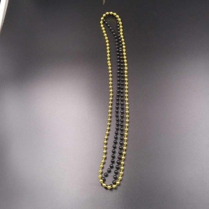 China Plastic Beaded Necklaces 32 inch 7mm Metallic Beade on sale