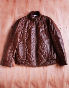 China Men's leather jacket ,quliting leather men's jacket ,2014 fashion leather No: NM1203 on sale