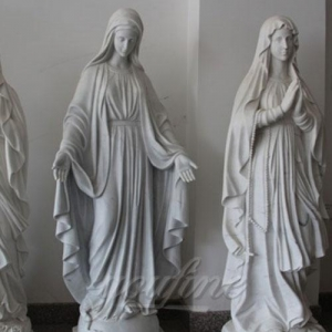 China Marble Altar Hand Carved and Highly Polished Famous Religious Marble Mary with Different Positions on sale