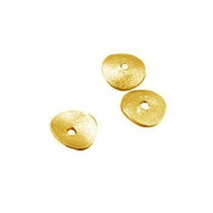 China Accessory 6mm Gold Plating Brushed Plate / Silver 925 Dish Beads / Sterling Silver Beads on sale