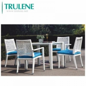 China Garden Poly Wicker Rattan Furniture outdoor Dining Setting Table and Chairs on sale