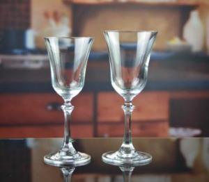 China Drinking Glasses DX-11644 Handmade Vintage Crystal Pyramid Wine Glass on sale