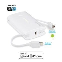 China Alcatel Naztech PB5000i MFi Power Bank Lightning - White 13058-NZ on sale