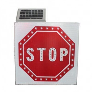 China solar powered road signs maintenance-free high reflection traffic safety led stop sign on sale