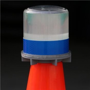 China road warning lights used for traffic cone bracket available solar led flashing beacons on sale