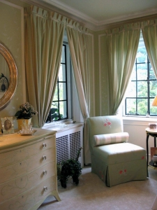 China Green Bedroom Curtains What Color With Walls on sale