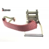 China 2'' Lashing Belt Buckle Rachet Tie Down Strap With J Hook for sale