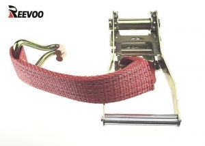 Quality 2'' Lashing Belt Buckle Rachet Tie Down Strap With J Hook for sale