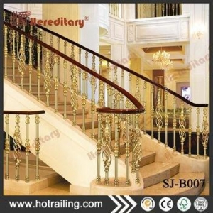 China Residential durable classic villa stair metal aluminum balusters on sale