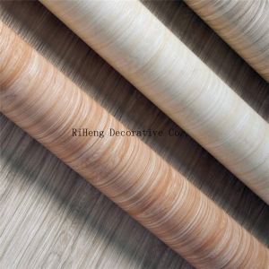 China Matt Colour Wood Grain PVC Film on sale